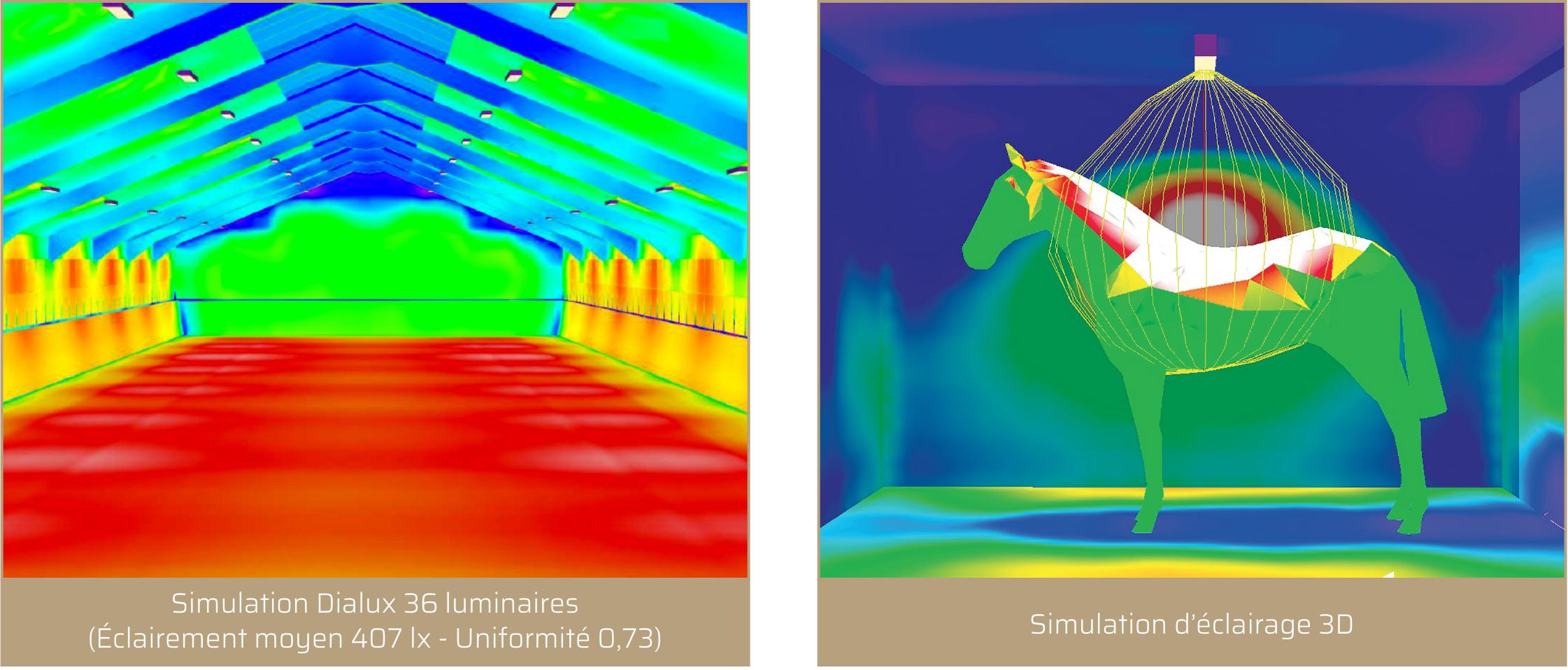 Étude lumière PROXIMAL - Manèges équestres, boxes chevaux